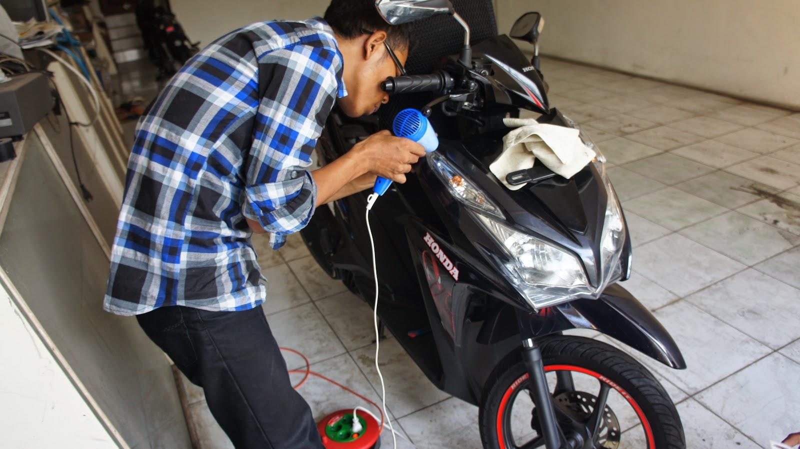 Kumpulan Modifikasi Motor Matic Hitam Doff Terlengkap Kampong Motor